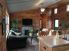 Wonderful Photographs Fireplace Remodel high ceiling Thoughts – Rebel Without Applause Barn Style House Plans, Barn Homes Floor Plans, Pole Barn House Plans, Small House Floor Plans, Pole Barn Homes, Modern Tiny House, Tiny House Cabin, Tiny House Living, Living Room