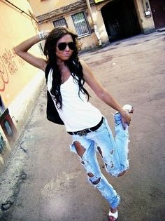 Cute jeans luv the worn out look but sometimes there is always too  much rip