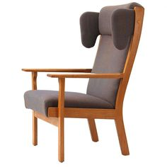 Wing Back Armchairs by Hans J. Wegner | From a unique collection of antique and modern wingback chairs at http://www.1stdibs.com/furniture/seating/wingback-chairs/