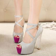 Hot and New Item Fashion Popular One-buckle Open-toe Color Block Chunky Heels Platform Sandals