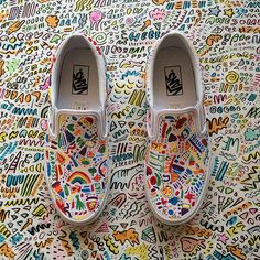 Children's book author and illustrator Dallas Clayton created these Vans as inspiration for this year's Vans Custom Culture contestants. Custom Vans Shoes, Custom Painted Shoes, Custom Sneakers, Dream Shoes, Crazy Shoes, Me Too Shoes, Painted Sneakers, Swag Shoes, Nike Shoes Air Force