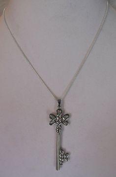 Silver Celtic Knot Key Necklace. Irish by Doyle1313 on Etsy, $13.00