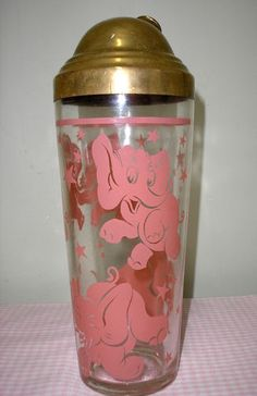 VINTAGE PINK ELEPHANT COCKTAIL SHAKER