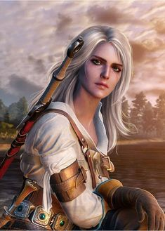 f Ranger Leather Sword farmland village hills forest Ciri The Witcher 3 The Witcher Wild Hunt, The Witcher Game, The Witcher Geralt, Witcher Art, Fantasy Characters, Female Characters, Witcher Wallpaper, Yennefer Of Vengerberg, Video Games Girls