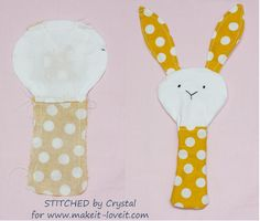 Sew a Plush Rattle for Baby (...bunny, cat, & mouse)!   via www.makeit-loveit.com