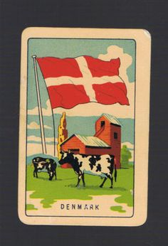 Playing-Swap-Cards-1-VINT-COLES-1ST-SERIES-NMD-FLAGS-DENMARK-K1