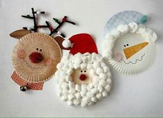 Cute paper plate Christmas activity