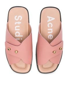 Image 1 of Acne Studios Leather Jilly Sandals in Pink