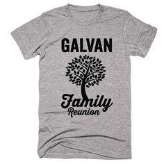GALVAN Family Name Reunion Gathering Surname T-Shirt
