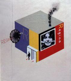 Herbert Bayer, Entwurf für den Multi-Media-Messestand eines Zahncreme-Herstellers, 1924 The Harvard University Art Museums, Busch-Reisinger ...