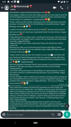 Happy Birthday Mom Wishes, Thanks For Birthday Wishes, Happy Birthday Best Friend Quotes, Birthday Wishes For Boyfriend, Birthday Girl Quotes, Inspirational Paragraphs, Anniversary Quotes For Parents, Message For Best Friend, Cute Texts For Him