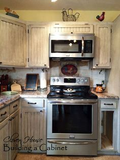 We Built a Drop-in Kitchen Cabinet...AFTER.....
