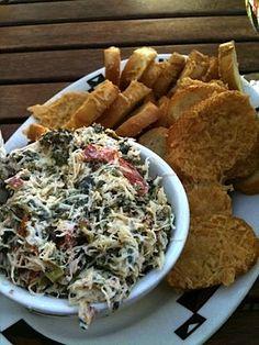 Dungeness Crab, Artichoke and Spinach Dip served with Garlic Parmesan Crostini {Ahwahnee Bar, Yosemite National Park, CA, USA}