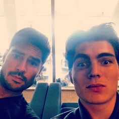 """""""Look who I found at LAX. Coincidence? I think not."""" via Zane Holtz"""