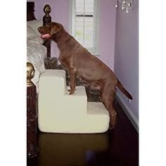 nice Pet Stairs Petstairz 3 Step Big Dog Foam Pet Step and Pet Stair with Beige Removable and Washable High Curly Pile Shearling Cover for Pets up to 70lbs.Please Take Into Consideration Your Pets Health, Agility. Gate Stability, Paw Length and weight prior to Ordering. Please Call Us with Any Questions or Concerns Prior to Ordering for proper guidance and Remember to Measure Your Placement... Pet Stairs, Hip Dysplasia, Dog Steps, Pet Health, Dog Supplies, Big Dogs, Dog Bed, Beige, Pets