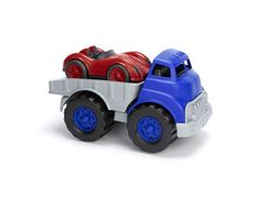 Green Toys Flatbed Truck and Race Car. Green Toys Flatbed Truck and Race Car Toys For Little Kids, Kids Toys, Children's Toys, Toddler Toys, Sports Games For Kids, Plastic Milk, Play Vehicles, Green Toys, Car Makes
