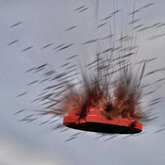 Exploding clay pigeon! #shooting #awesome #trap