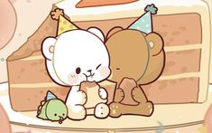 Cute Cartoon Images, Cute Love Cartoons, Cute Cartoon Wallpapers, Cute Patterns Wallpaper, Cute Disney Wallpaper, Cute Wallpaper Backgrounds, Cute Bear Drawings, Cute Animal Drawings Kawaii, Cute Couple Comics