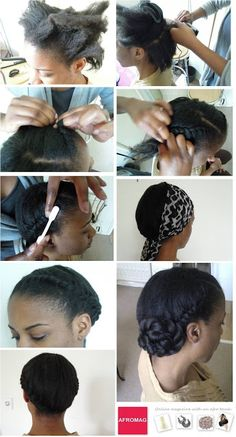 Flat twist chignon, great for natural hair  natural hair styles for black women