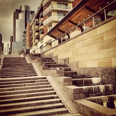 The Banks and the Main Street steps at Smale Riverfront Park
