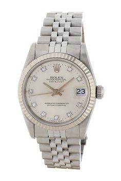 Rolex Women's Datejust Stainless Steel Bracelet Watch by Donald E. Gruenberg Inc. on @HauteLook