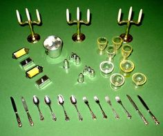 Sindy Original Silverware And Accessories/ I was obsessed with the tiny silverware