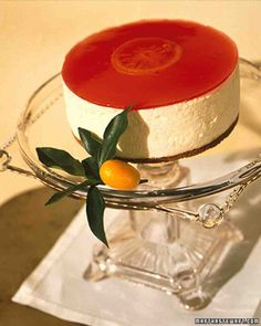 Blood Orange Cheesecake Recipe. Follow @MS_Living on Pinterest for more exclusive recipes and inspiration from the editors of Martha Stewart Living.