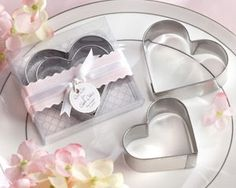 """""""Cut Out for Each Other"""" Stainless-Steel  Heart-Shaped Cookie Cutters"""