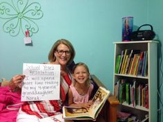 My school year's resolution is to spend more time reading to my 4-year-old granddaughter Norah. - Cathy Cartier, Affton High School Teacher