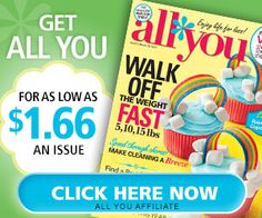 ALL YOU As Low As $1.66 An Issue! | Closet of Free Samples | Get FREE Samples by Mail | Free Stuff