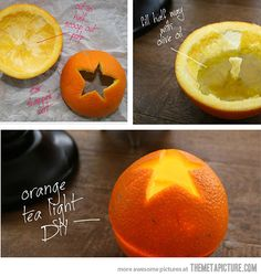 Turn any orange into a candle