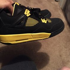 a551c33020df Shop Women s Jordan Yellow Black size Sneakers at a discounted price at  Poshmark.