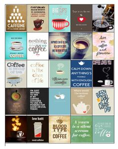 Coffee Stickers for Erin Condren Planners Digital File