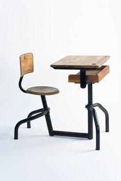 Jean Prouvé, student desk, c. 1940