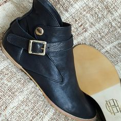 NEVER WORN House of Harlow Short Boots Booties Hot pair of House of Harlow 1960 boots in a soft black leather with buckle and snap closure. Never worn! Absolutely luxurious in person! Size 8.5 or 38.5. House of Harlow 1960 Shoes Ankle Boots & Booties
