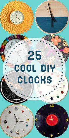 25 Cool DIY Clocks | * Remodelaholic * | Bloglovin'