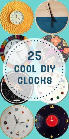 25 Cool DIY Clocks | * Remodelaholic * | Bloglovin'