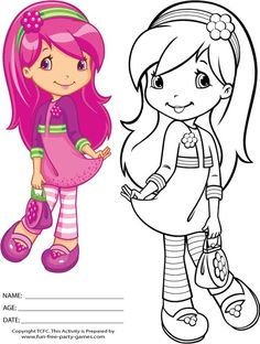 22 Strawberry Shortcake Coloring Pages Free To Print Cute Coloring Pages, Coloring Pages For Girls, Cartoon Coloring Pages, Coloring Pages To Print, Coloring For Kids, Free Coloring, Coloring Sheets, Coloring Books, Strawberry Shortcake Coloring Pages