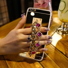 Phone Case - Luxury Bling Mirror Aluminum Case For Iphone