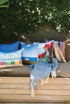 Kiwiana Cushion Collection by limon Outdoor Cushions, Outdoor Sofa, Indoor Outdoor, Outdoor Furniture, Outdoor Decor, Kiwiana, Outdoor Living Areas, Collection, Home Decor
