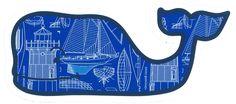 Vineyard Vines Nautical Blueprint Whale