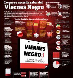 Infografía: Lo que se necesita saber del Viernes Negro  Es casi una copia directa de la infografía que hicieron para el Buen Fin.