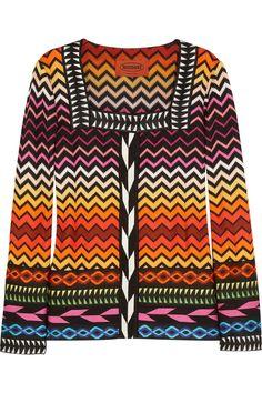 Moira crochet-knit jacket by Missoni