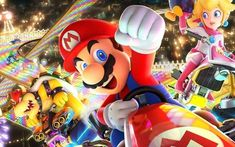 Mario Kart 8 Deluxe and Pokken Tournament DX won't be the last Wii U titles upgraded for the Nintendo Switch. According to Nintendo of America presi. Nintendo Mario Kart, Mario Kart 8, Mario Run, Nintendo Switch Games, Nintendo 2ds, Super Nintendo, Super Mario Bros, Super Smash Bros, Mario Bros 3