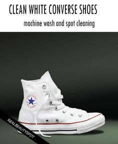 How to Clean White Converse (Canvas) Shoes