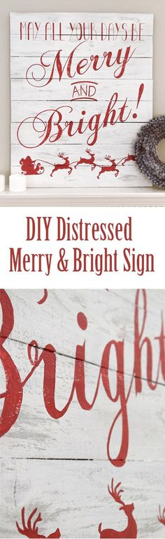 Different saying? But love the style Painted with grey and chalkboard white. Love the red lettering over the faux pallet sign.