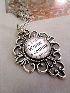 Game of Thrones Winter is Coming Antiqued by AuthoredAdornments