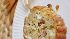 Cake chèvre, noix et oignons caramélisés