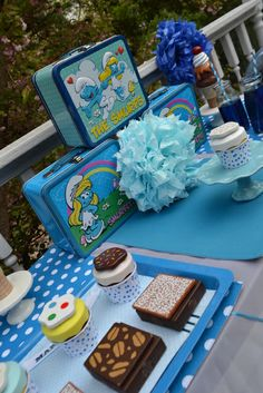 smurf party idea