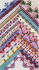 Crazy Quilt Stich Examples.  I have to find this book....